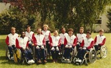 Photo:The 1984 GB team at Stoke Mandeville; Philip Craven was the captain and Martin McElhatton played.