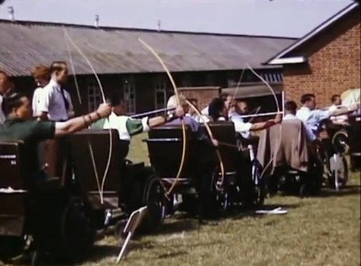 Photo:Archery at Stoke Mandeville Hospital in 1951