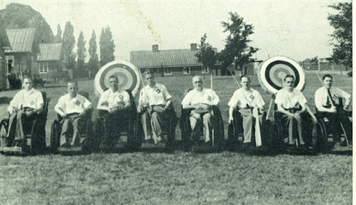 Photo:The first Archery Tournament at Stoke Mandeville Hospital on 27th July 1948 was won by the Royal Star and Garter Home team.