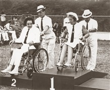 Photo:Margaret Maughan; gold medal for archery, Jamaica, 1966