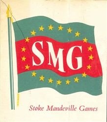 Photo:The logo for the 1956 international games.