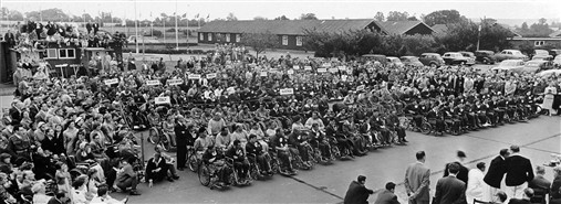 Photo:The closing ceremony at the Stoke Mandeville International Games, 1962