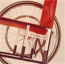 "Photo:The Varioblock allowed the wheelbase and height of a chair to be adjusted; it was the end of the ""one-size-fits-all"" wheelchair."