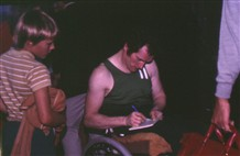 Photo:Terry was GB team captain at the 1973 IWBF games