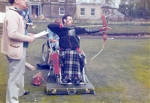 Photo:George Brogan at games in Blair Castle, 1965