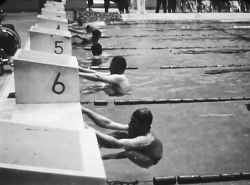 Photo:Swimmers at the Tokyo games in 1964